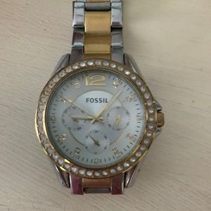 Women's authentic Fossil watch.